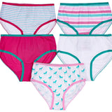 5-Pack Unicorns Tagless Panties 100% Cotton Fashion Prints
