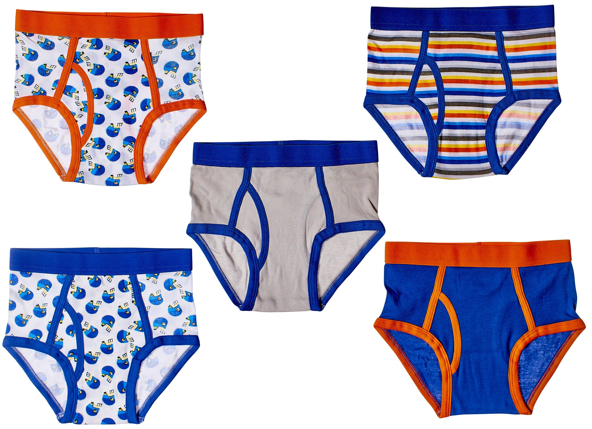 5-Pack Football Stars Boys 100% Cotton Briefs Underwear