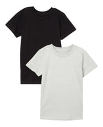 2-Pack 100% Combed Cotton T-Shirts (Grey/Black)