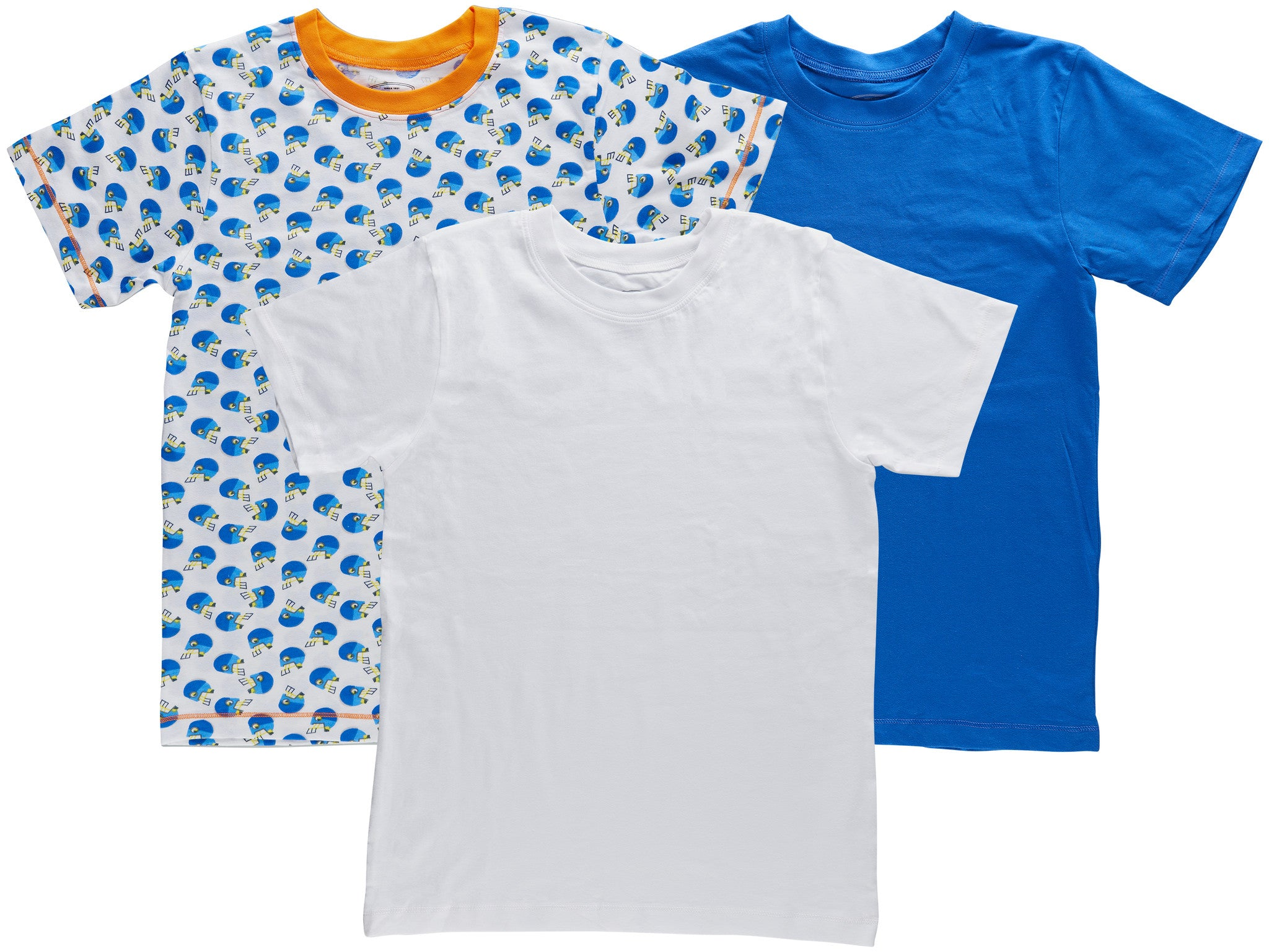 3-Pack Football Stars 100% Cotton Fashion Printed T-Shirts