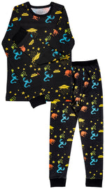 Aliens Organic Cotton Long Sleeve Pajama Set