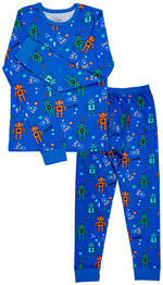Robots Organic Cotton Long Sleeve Pajama Set