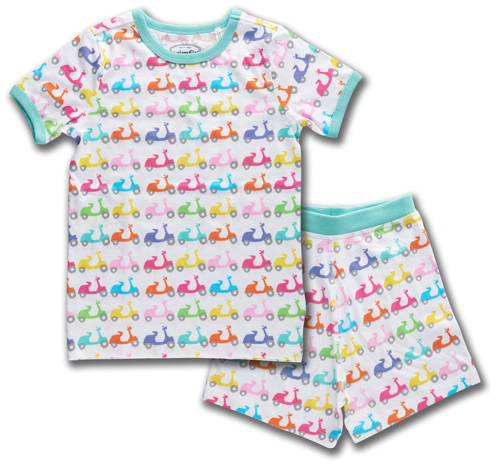 Vespa Motorcycles Organic Cotton Short Sleeve Pajama Set