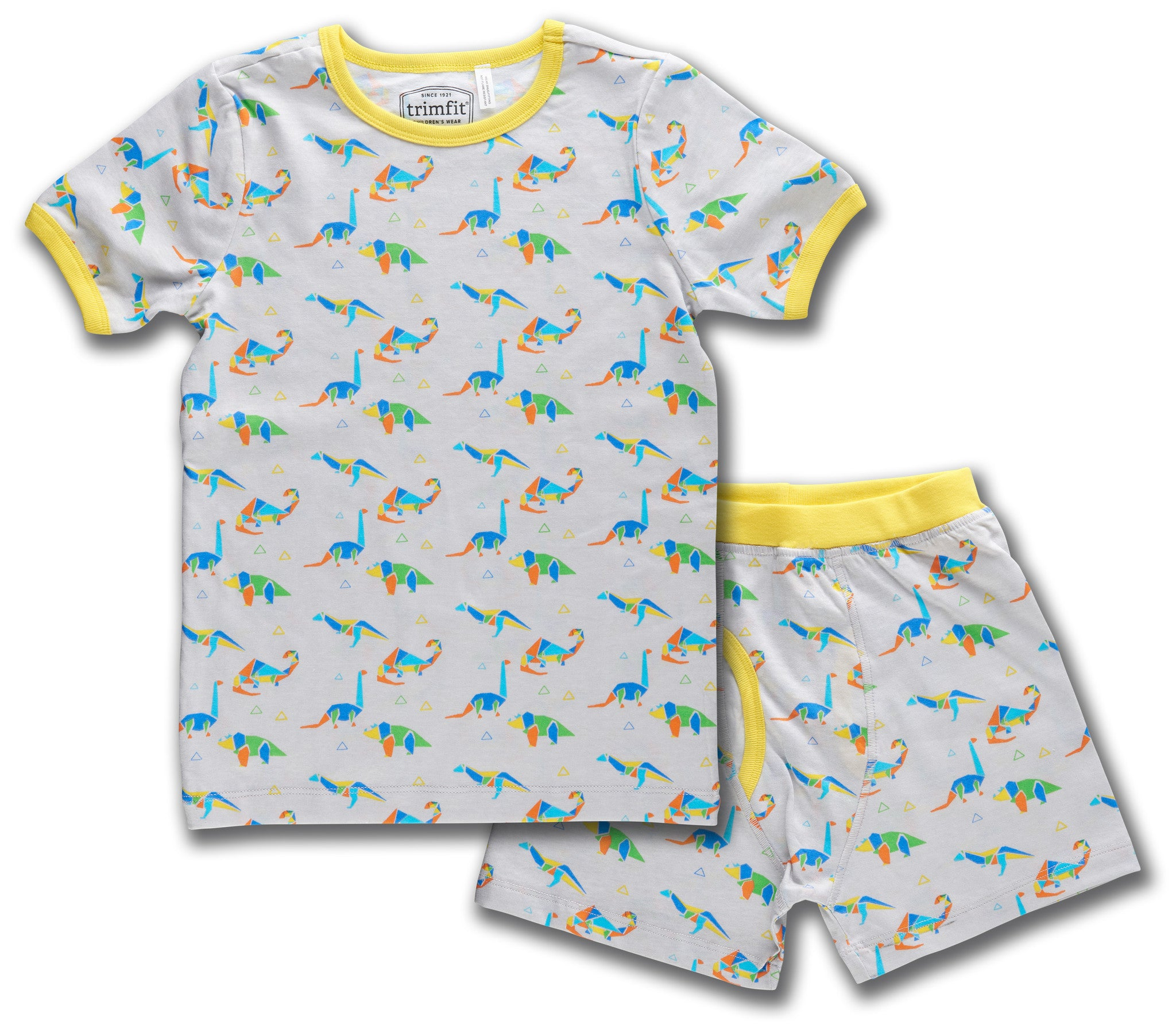 Dinosaurs Organic Cotton Short Sleeve Pajama Set