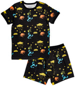 Aliens Organic Cotton Short Sleeve Pajama Set