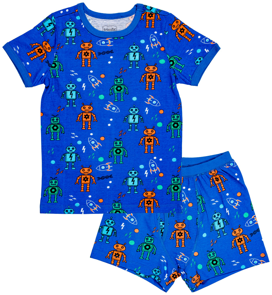 Robots Organic Cotton Short Sleeve Pajama Set