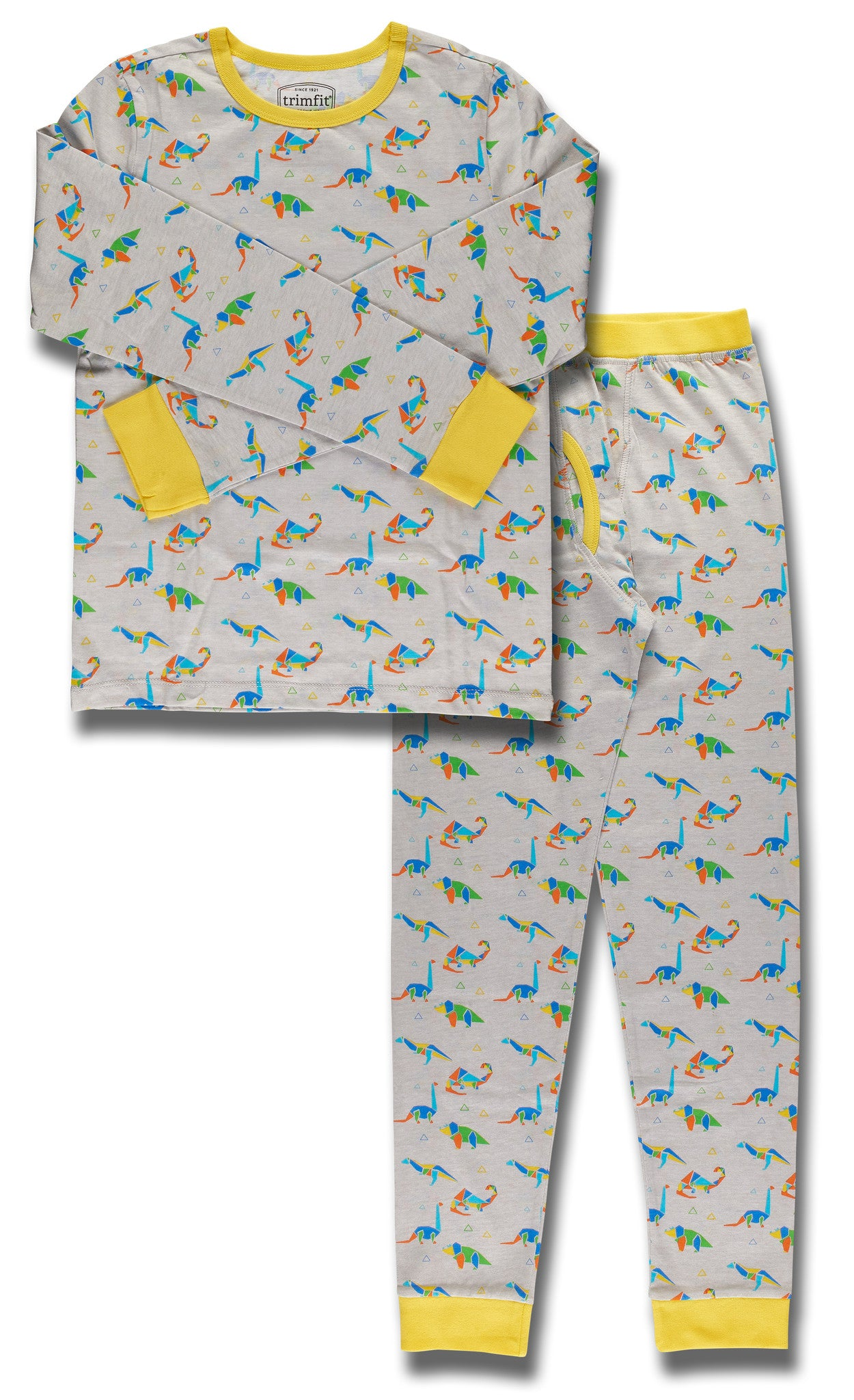 Dinosaurs Organic Cotton Long Sleeve Pajama Set