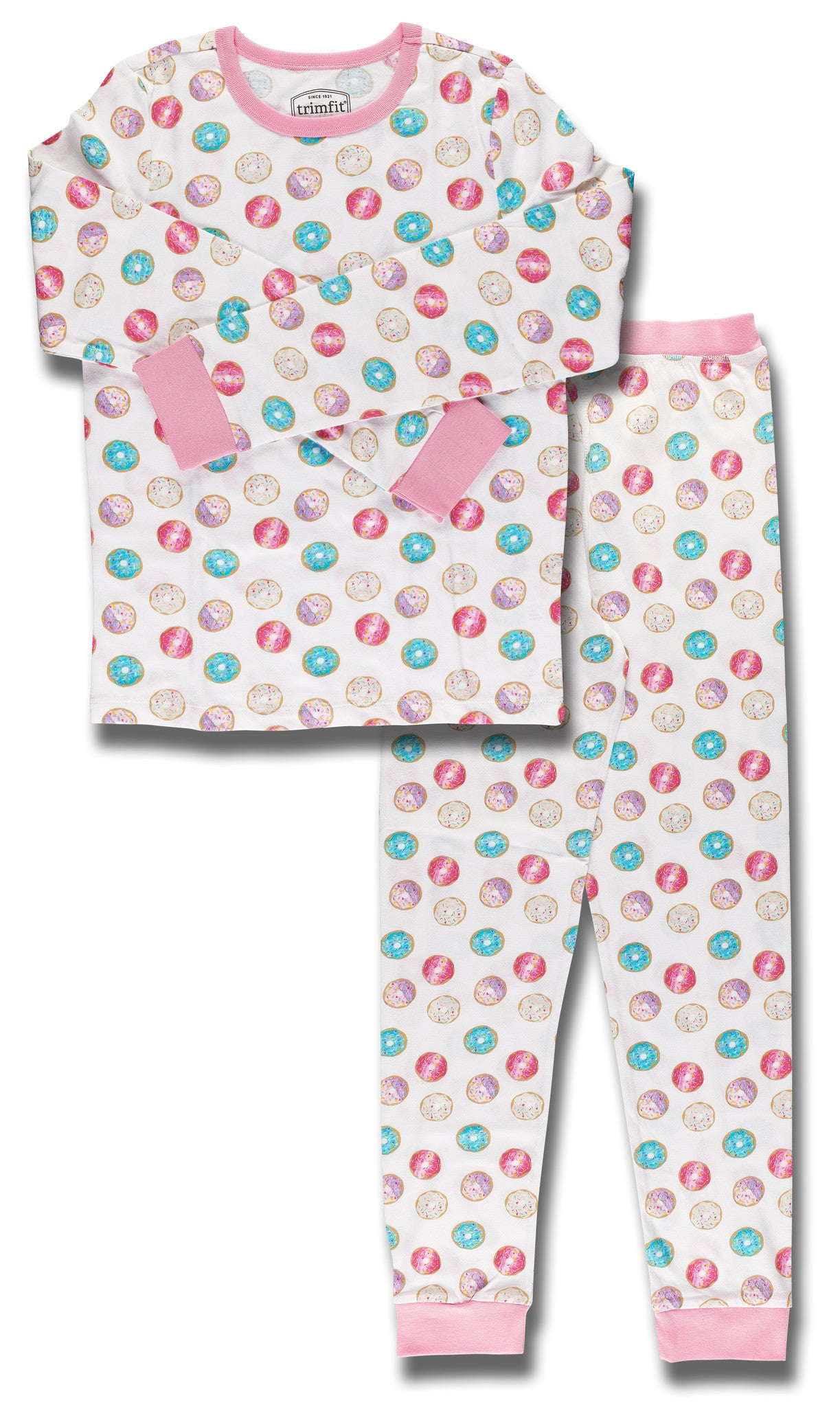 Donuts Organic Cotton Long Sleeve Pajama Set