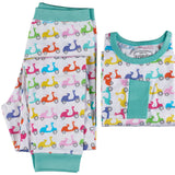 Vespa Motorcycles Organic Cotton Long Sleeve Pajama Set