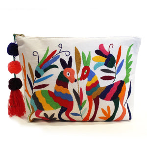 Mi Clarita - Hand Embroidered Clutches - Erica Maree, Otomi Collection