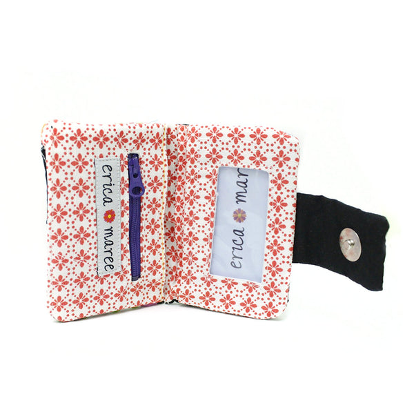 Mexican Hand Embroidered ID Mini Wallet - Interior