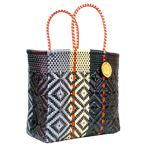 Handmade Mexican Large Tote - Orozco - Contrast