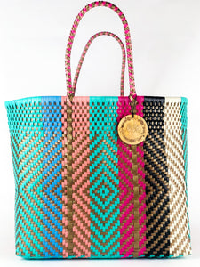 Handmade Mexican Large Tote - Orozco - Golden Candy