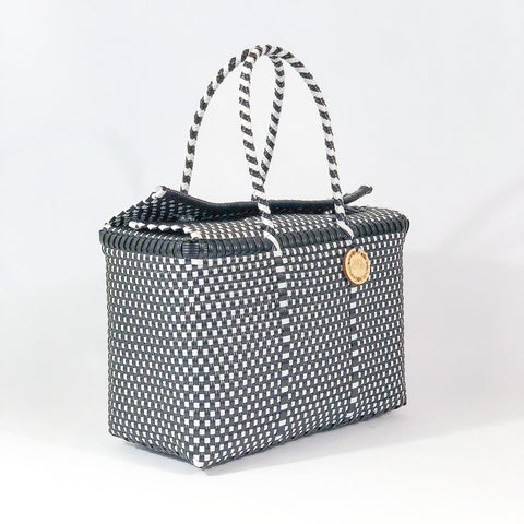 Handmade Mexican Bag - Siqueiros - Checkers Black and White
