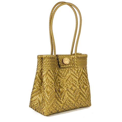 Handmade Mexican Bag - Tamayo Closed - Monochrome Gold