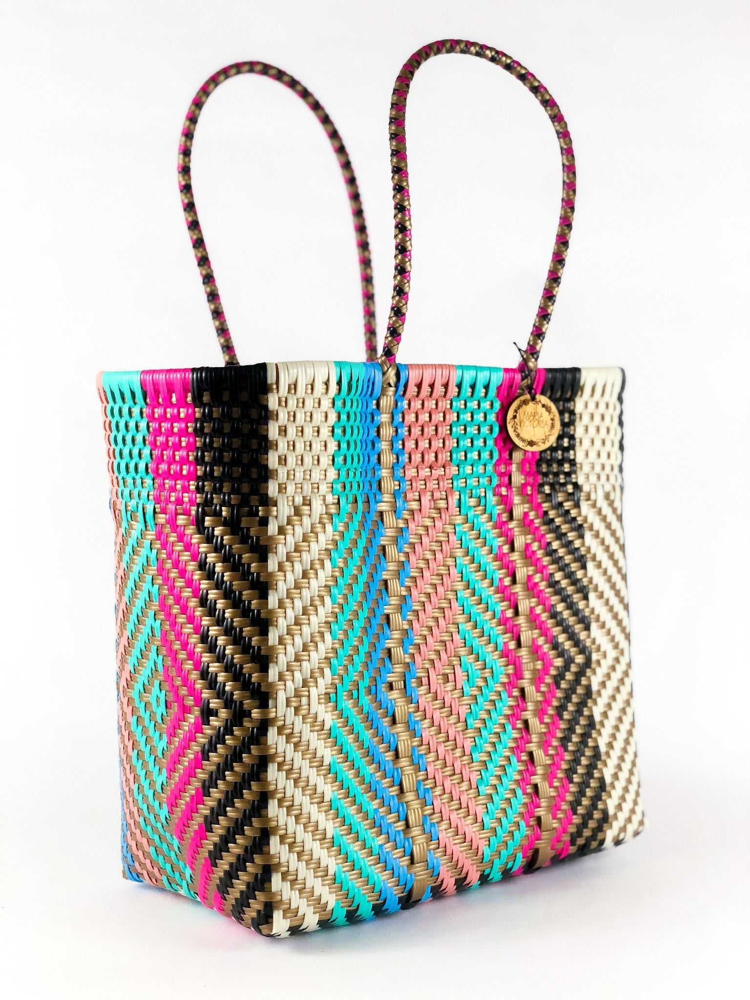 Handmade Mexican Medium Tote - Tamayo Tall - Golden Candy