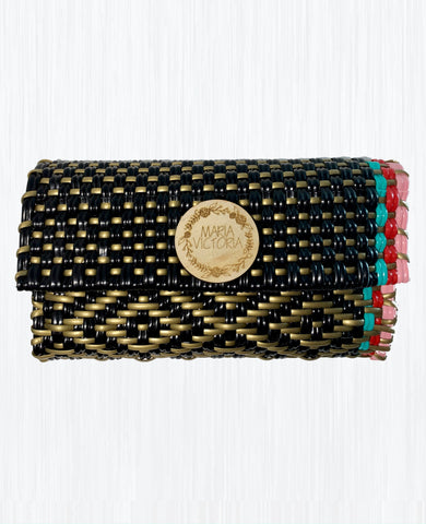 Handmade Mexican Trifold Wallet - Tesoro Mio - Grace