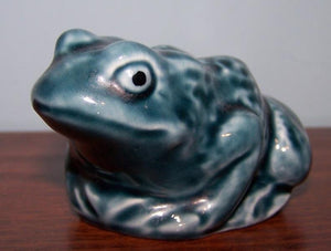 Blue Glazed Frog - Poole Pottery