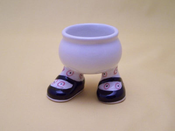 Black Shoes Egg Cup - Carlton Walking Ware Cup