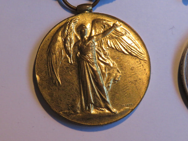 Collection WW1 British War Medal, Allied Victory Medal, Long Service medal plus documents 1914