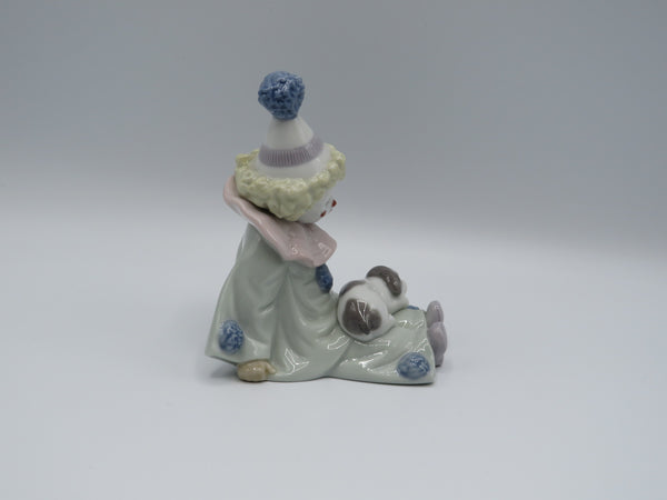 Retired Lladro Pierrot with Puppy 5277