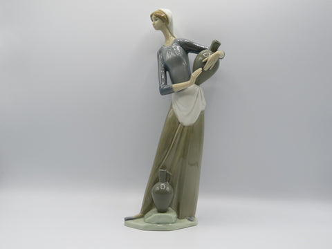 Retired Lladro Girl with Jugs 4875
