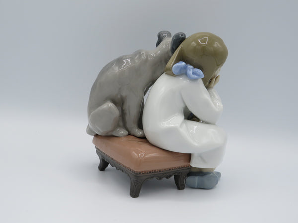 Retired Lladro We Can't Play 7506 figure