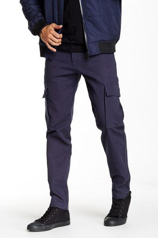 PE1510-06 Canvas Cargo Pants - Blue