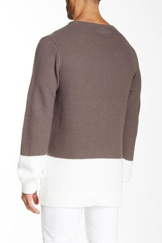 LK1630-01 Retrograde Sweater - Gray/Camel