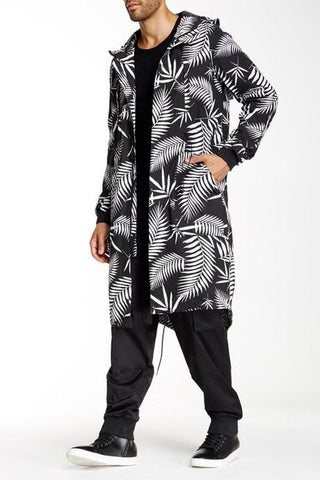 LK1660-02 Core Fishtail Jacket - Black/White Print