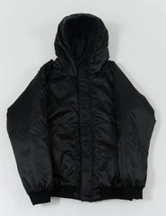 CON1730-04 HOODED DOWN BOMBER - BLACK