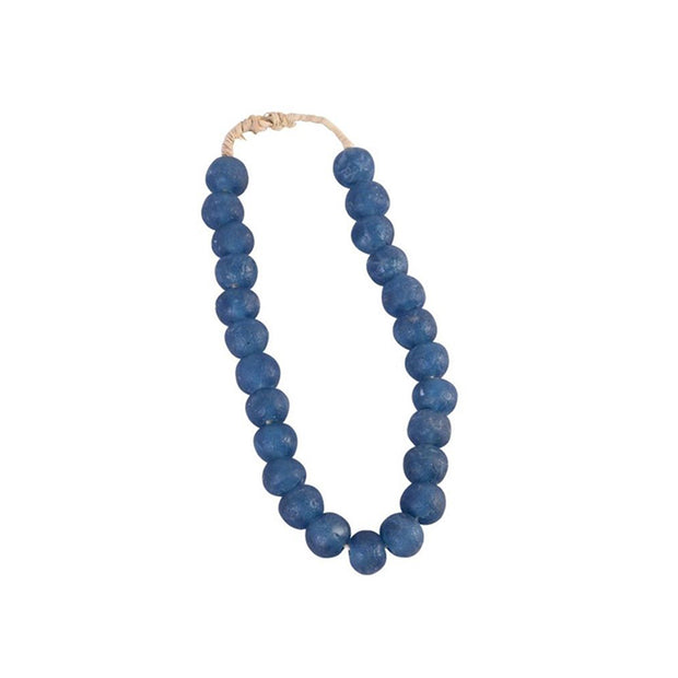 Vintage Sea Glass Beads in Indigo Blue