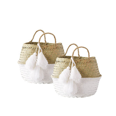 Barbados Palm Leaf Baskets (Set of 2)