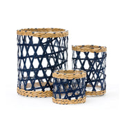 Island Wrapped Navy Lattice Hurricane
