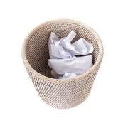 Sconset Petite Waste Basket - White-Washed
