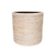 Sconset Round Waste Basket - White-Washed