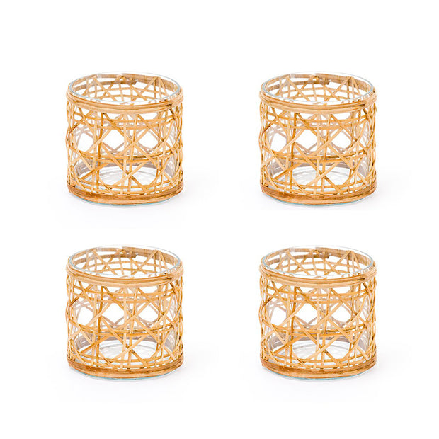 Cane Votives - Set of 4