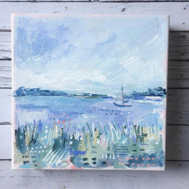 Sailing Original Painting - Mini