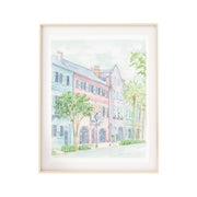 Rainbow Row Watercolor Print