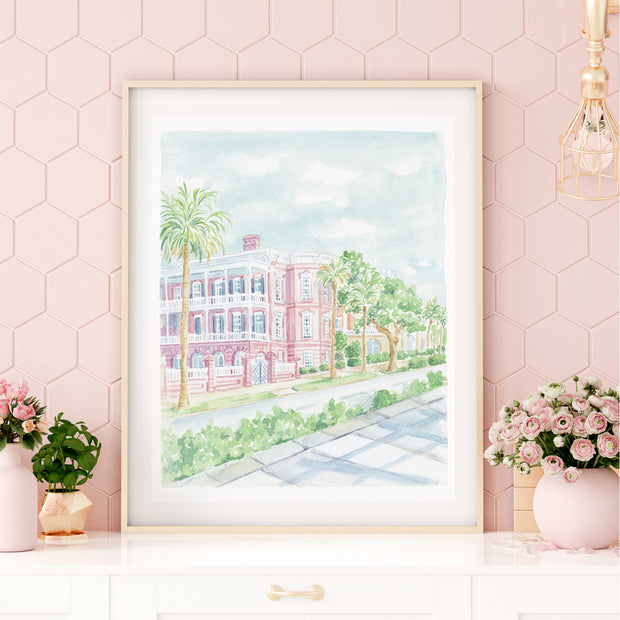The South Watercolor Print