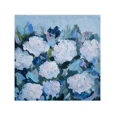 White Hydrangeas 1 Original Painting - Mini