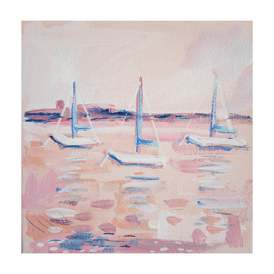 Peaches & Blue Water Original Painting - Mini