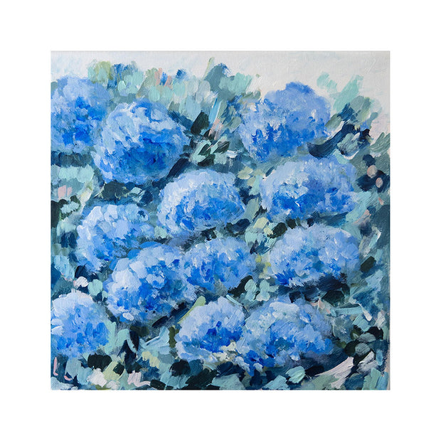 Blue Hydrangeas Original Framed Painting