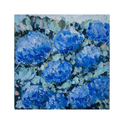 Blue Hydrangeas 1 Original Framed Painting
