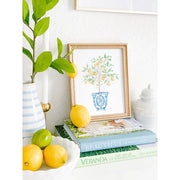 Lemon Tree Ginger Jar Watercolor Print