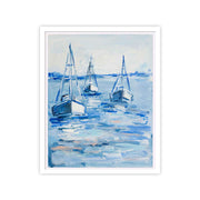 Moored On The Sea Original Painting