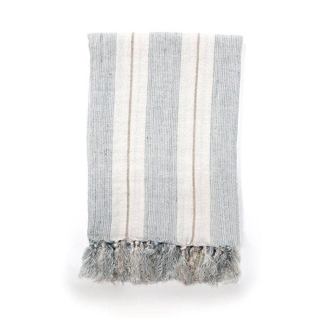 Coastline Stripe Throw by Pom Pom at Home