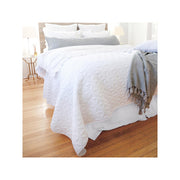 Wilmington Coverlet in White by Pom Pom at Home