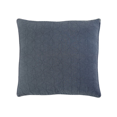 Wilmington Large Euro Sham in Blue Denim by Pom Pom at Home