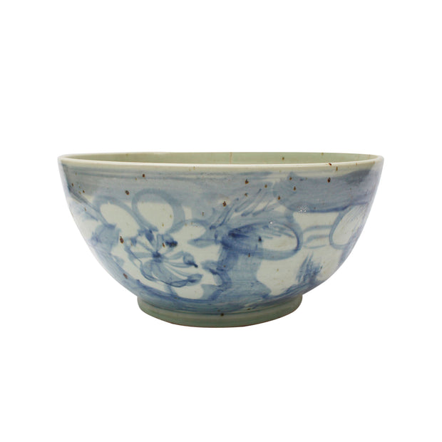 Oversized Painted Floral Bowl